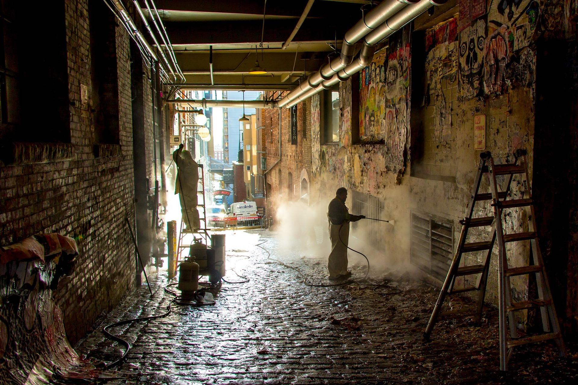 pulizia di graffiti